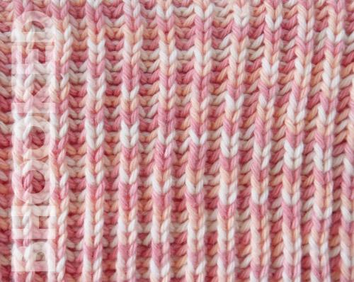 Single Color Brioche Knit Stitch