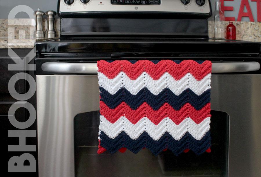 Chevron Crochet Kitchen Towel