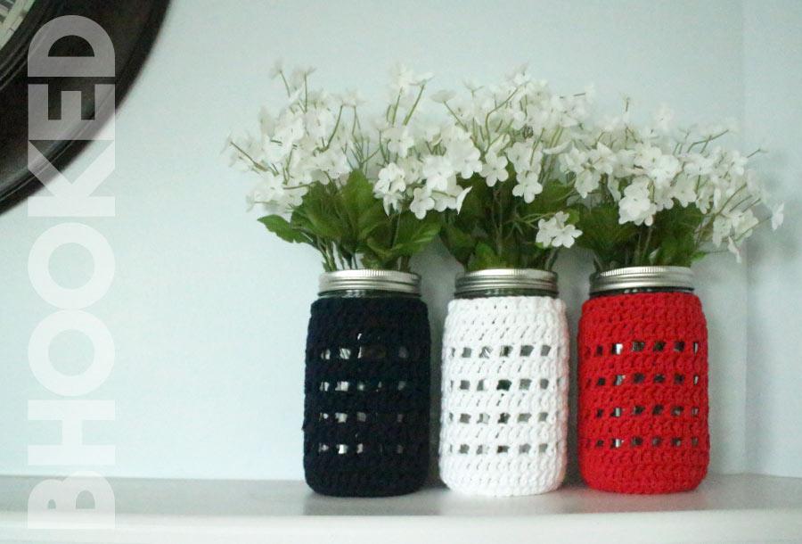 Crochet Mason Jar Cover