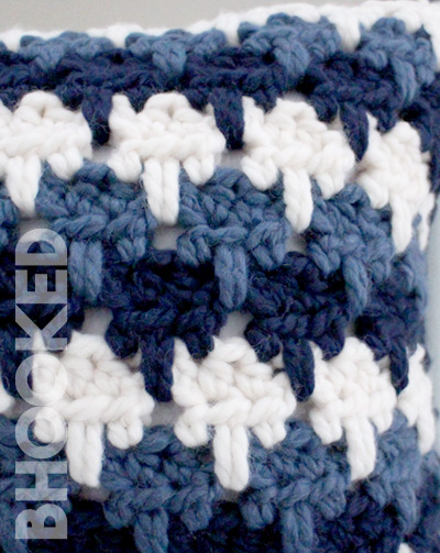 Larksfoot Stitch Crochet Pillow