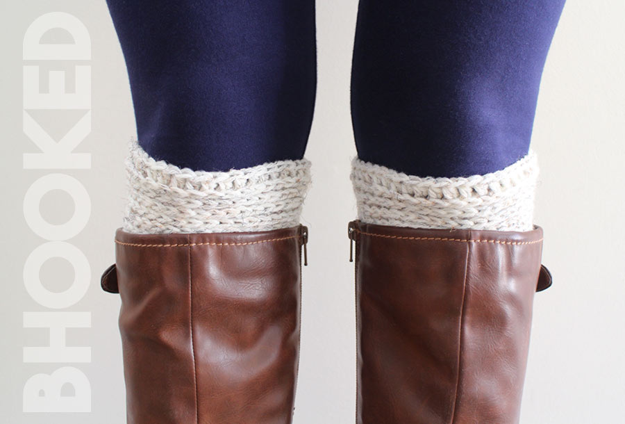 ribbed crochet boot cuffs