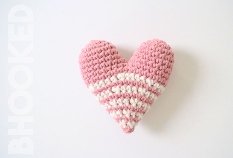 Stuffed Crochet Heart