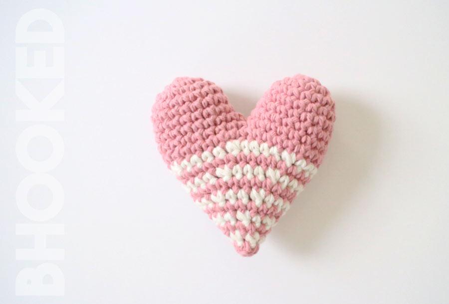 Stuffed Crochet Heart
