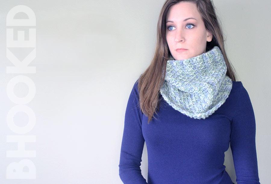 Easy Tunisian Crochet Cowl