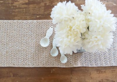 Farmhouse Crochet Table Runner