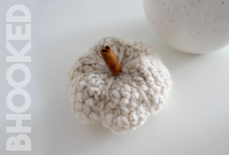 mini crochet pumpkin