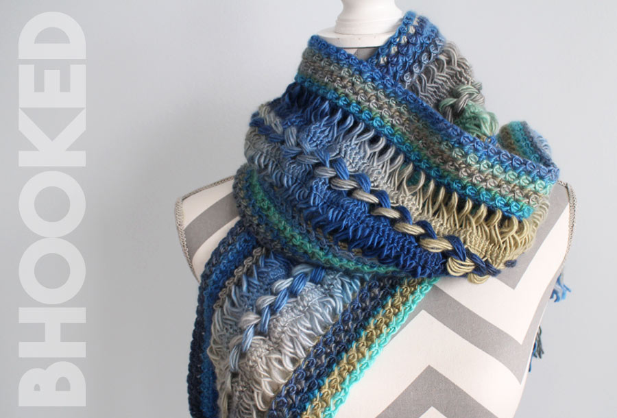 hairpin lace crochet scarf