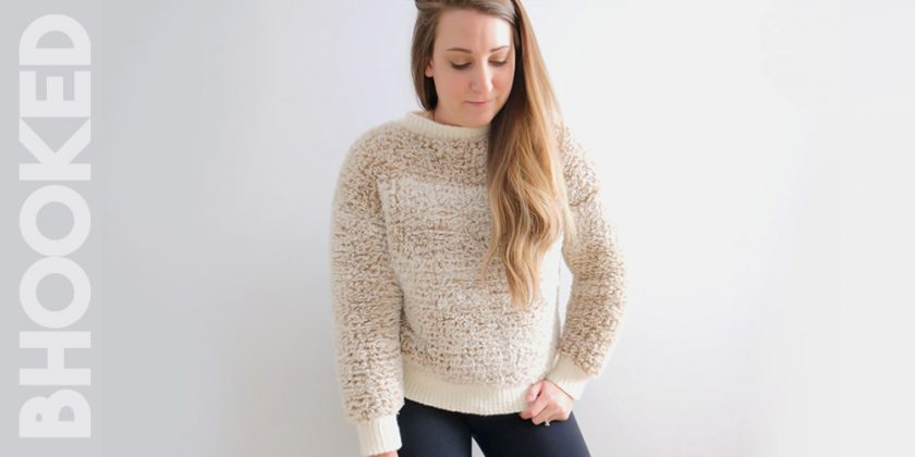 Faux Fur Knit Pullover