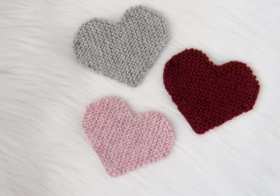 Knitted Heart Patch