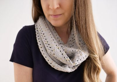 Easy Lace Knit Cowl