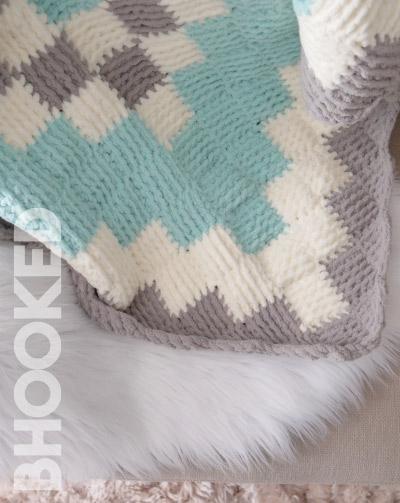 entrelac crochet baby blanket