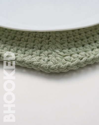 Round Crochet Placemats detail
