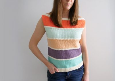 Casual Sleeveless Knit Top