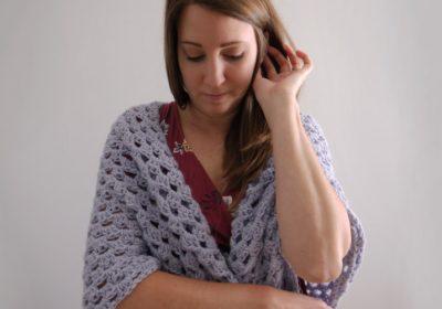 Traditional Granny Stitch Crochet Shawl