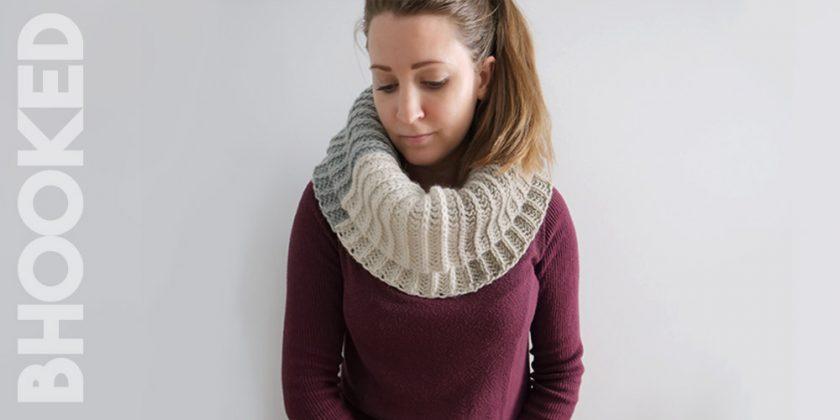 Tri-Color Crochet Cowl