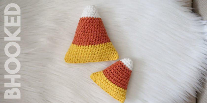Crochet Candy Corn Plush